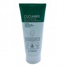 маска для лица с экстрактом огурца dr.cellio  cucumber derma calming solution peel off pack